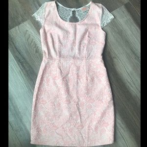 Lulu's Pink & White Lace Dress